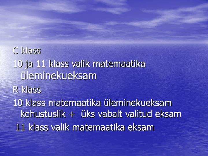 C klass