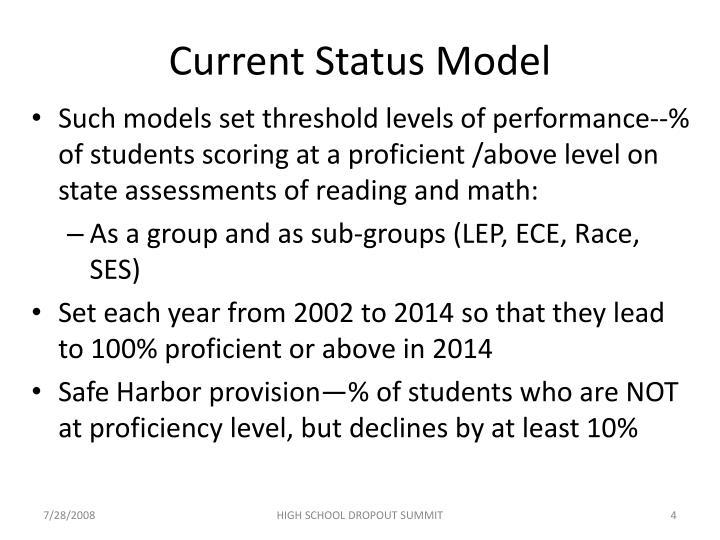 Current Status Model