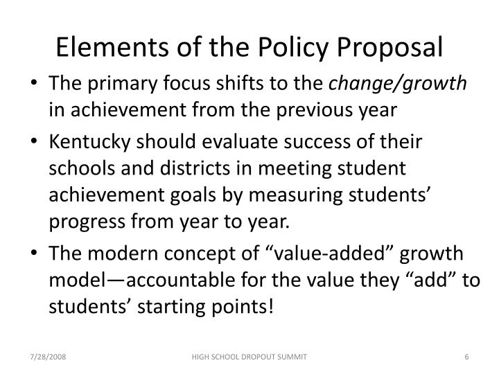 Elements of the Policy Proposal