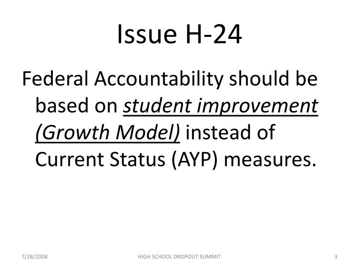 Issue H-24