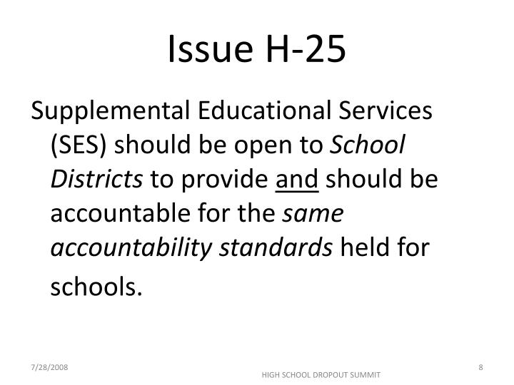 Issue H-25