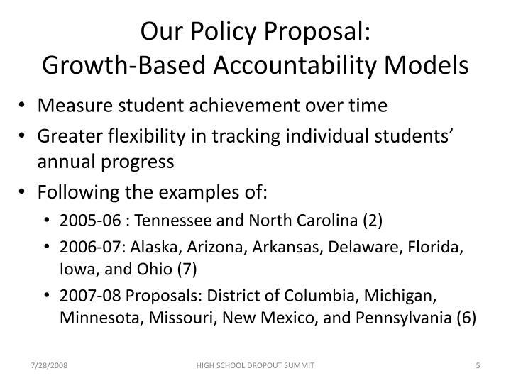 Our Policy Proposal: