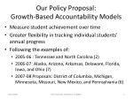 our policy proposal growth based accountability models