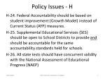 policy issues h
