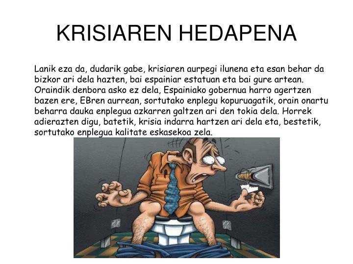 KRISIAREN HEDAPENA