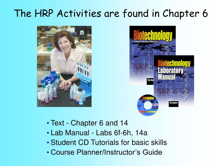 The HRP Activities are found in Chapter 6