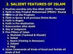 2 salient features of islam