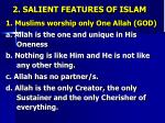 2 salient features of islam1