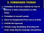 5 forbidden things4