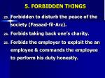 5 forbidden things5