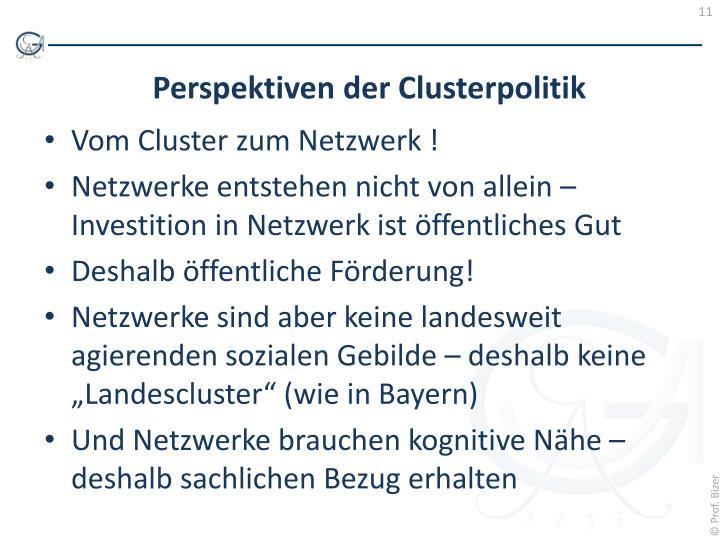Vom Cluster zum Netzwerk !