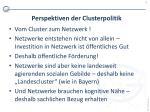 perspektiven der clusterpolitik