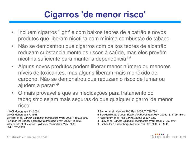 Cigarros 'de menor risco'