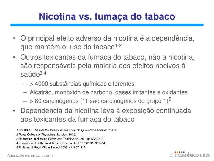 Nicotina vs fuma a do tabaco