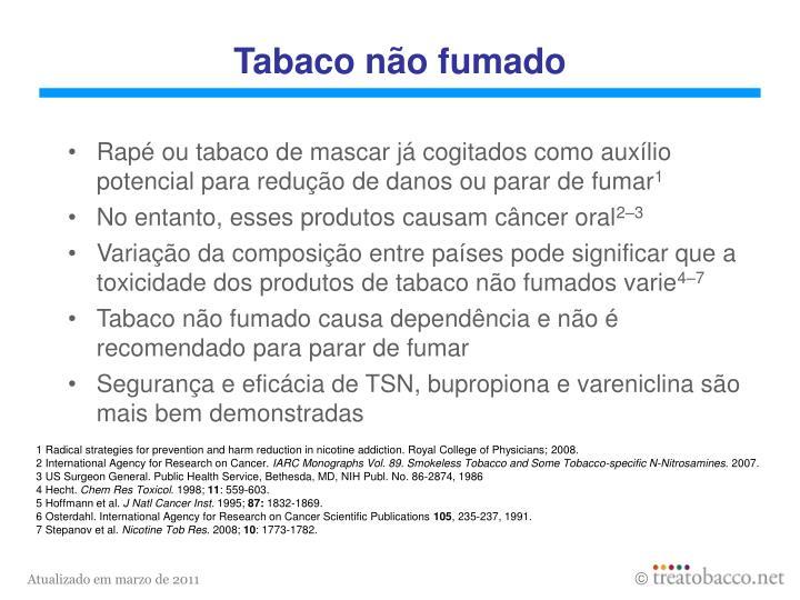 Tabaco não fumado