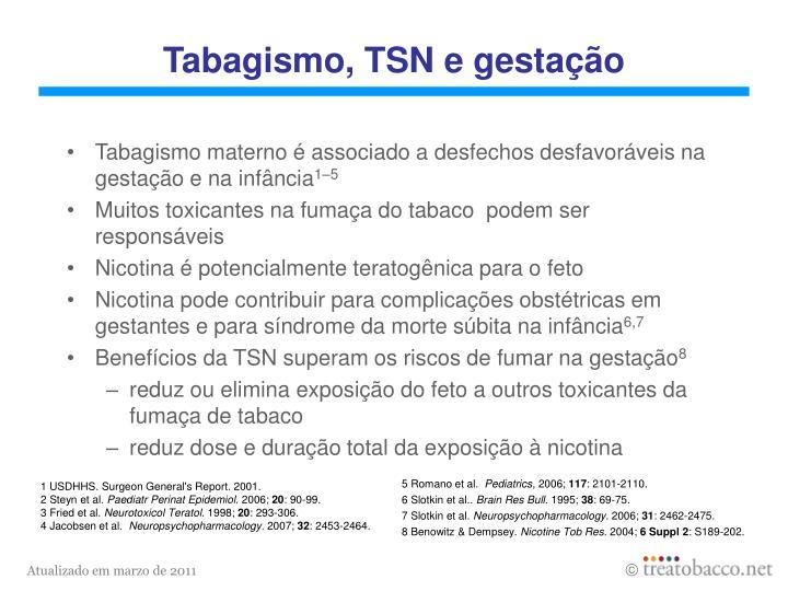 Tabagismo, TSN e gestação