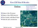 first cdf run ii results1