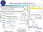 measurements with low et m2