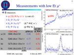 measurements with low et m3