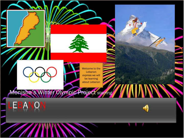 Monisha s winter olympic project starring