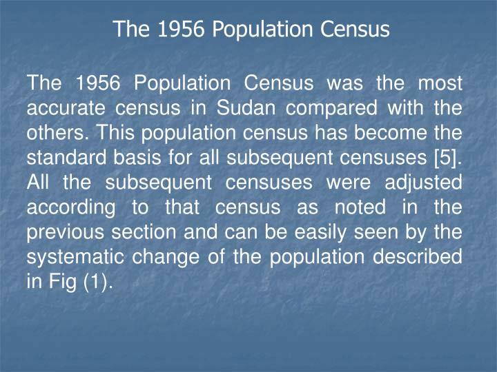The 1956 Population Census