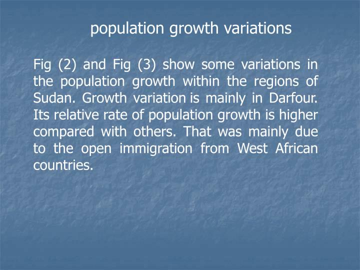 population growth variations