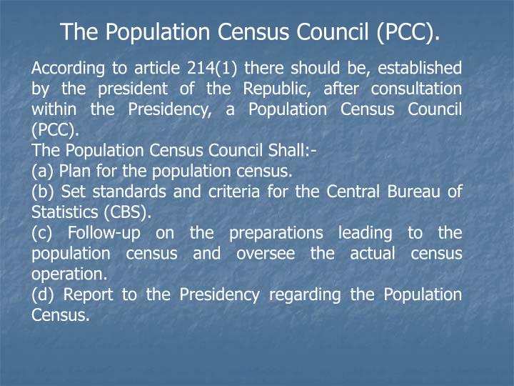 The Population Census Council (PCC).