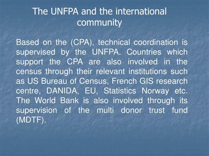 The UNFPA and the international community