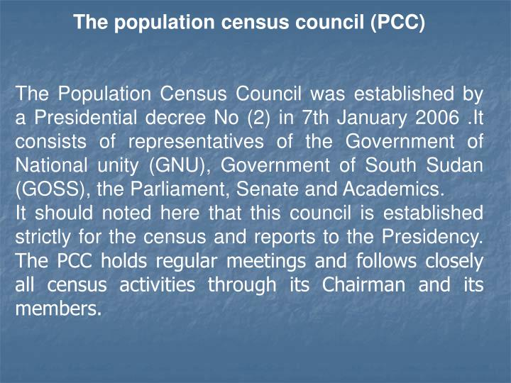 The population census council (PCC)