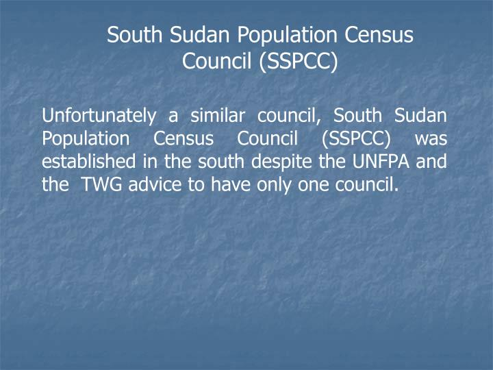 South Sudan Population Census Council (SSPCC)
