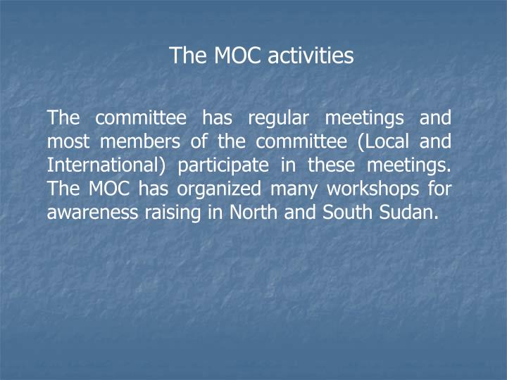 The MOC activities