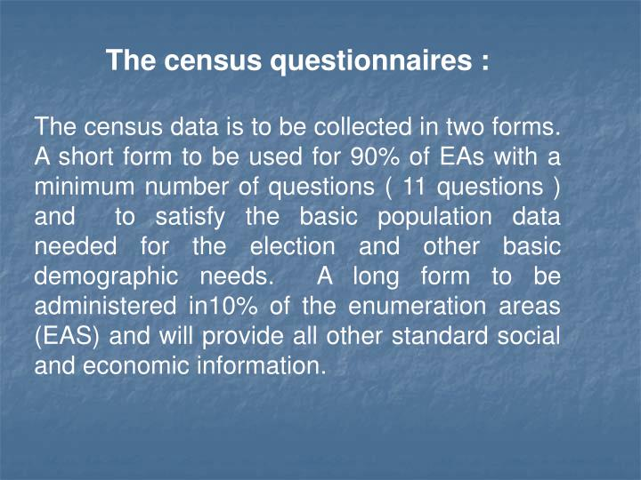 The census questionnaires :