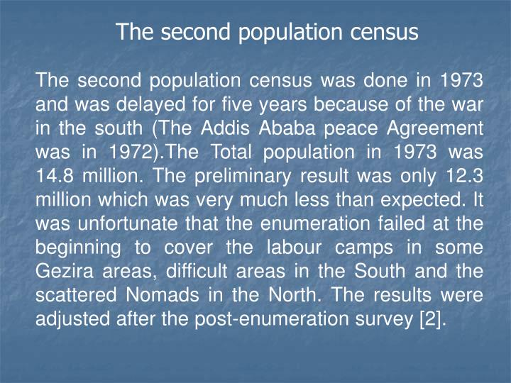 The second population census