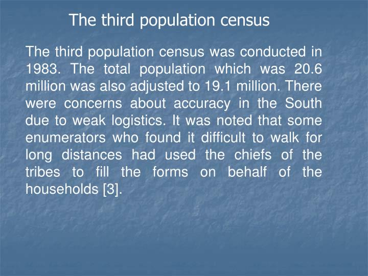 The third population census