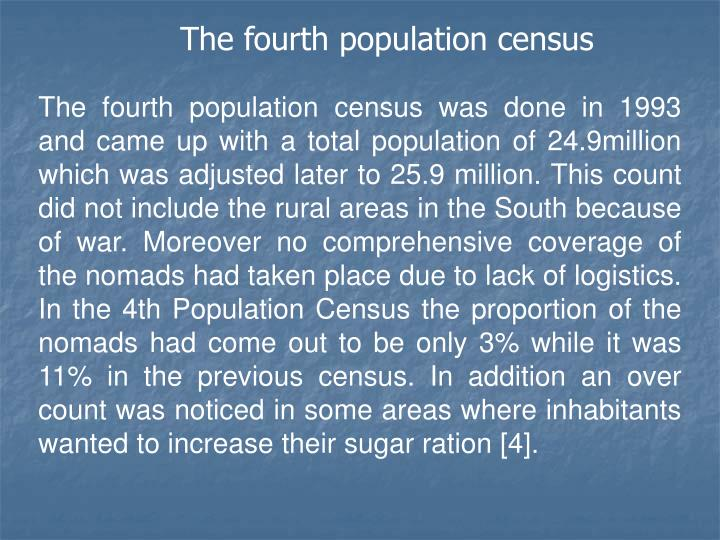 The fourth population census
