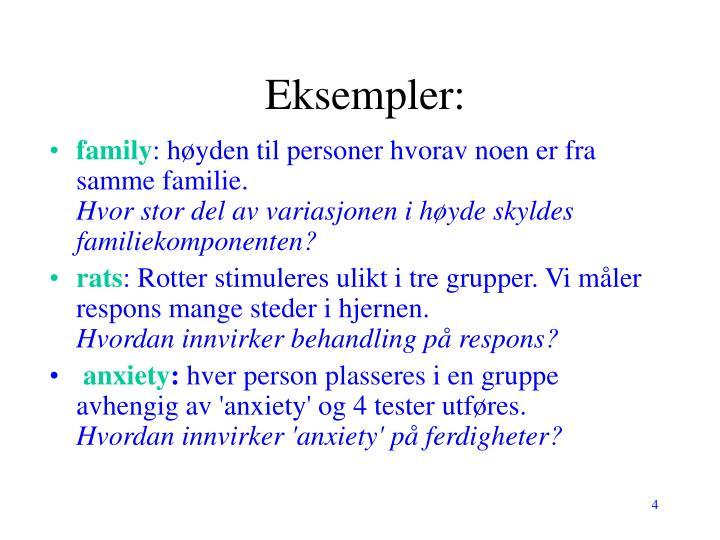 Eksempler: