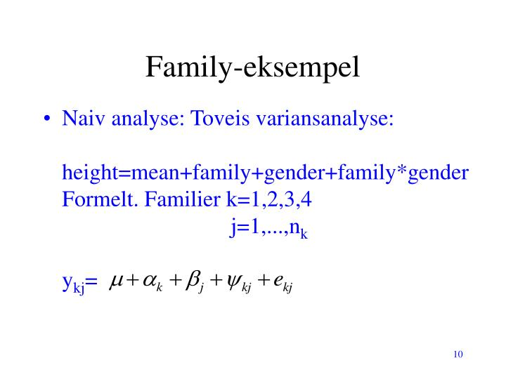 Family-eksempel