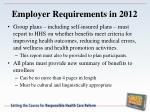 employer requirements in 20121