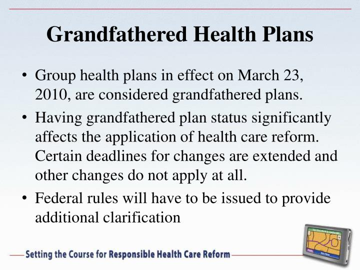 Grandfathered Health Plans
