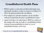 grandfathered health plans1