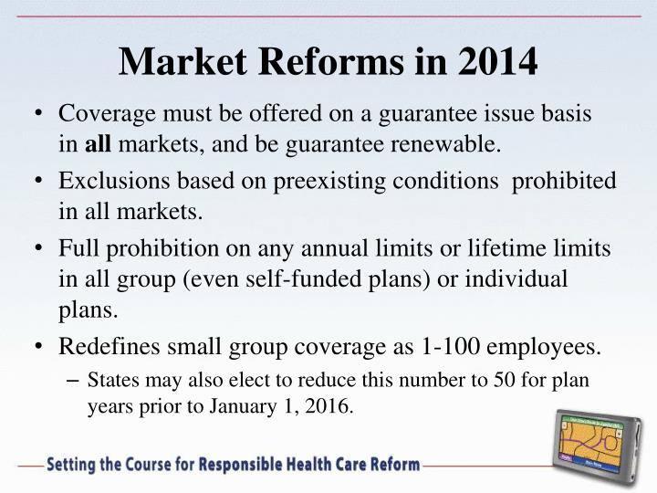 Market Reforms in 2014