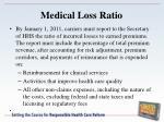 medical loss ratio