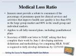 medical loss ratio1