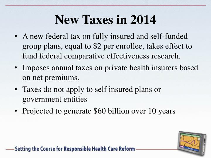 New Taxes in 2014