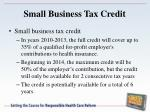small business tax credit1