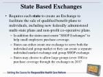 state based exchanges