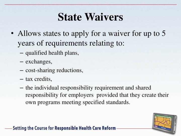 State Waivers