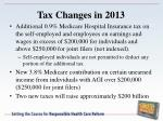 tax changes in 2013