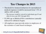 tax changes in 20131