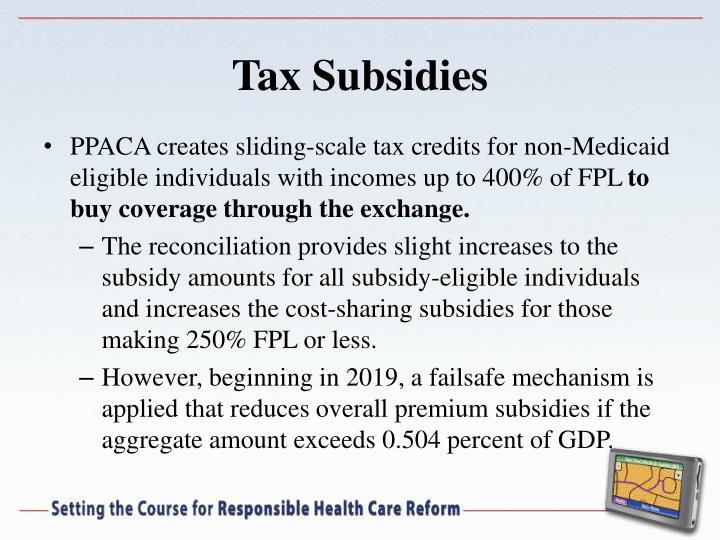 Tax Subsidies